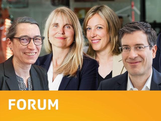 Die Gesprächsleiter der Sendung Forum.