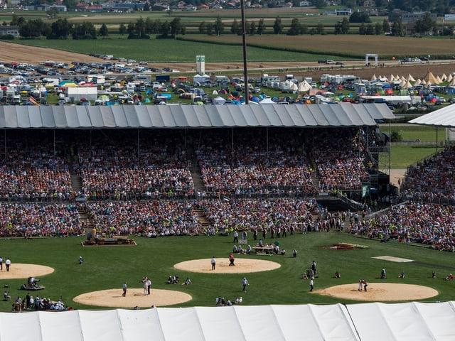 Stadion in Estavayer.