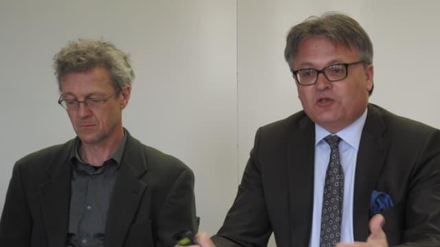 Die Stadträte Adrian Borgula und Stefan Roth.