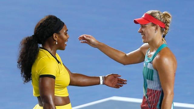 Serena Williams und Angelique Kerber.