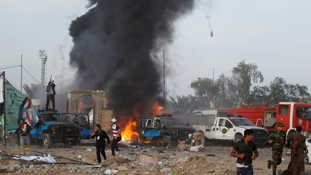 Zerstörungen nach einer Explosion