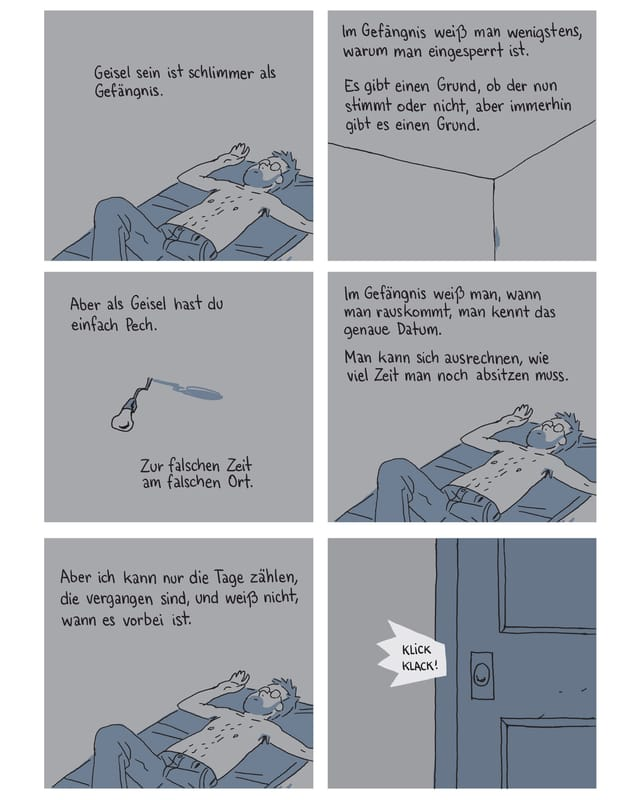 Ein Ausschnitt aus dem Comic «Geisel».