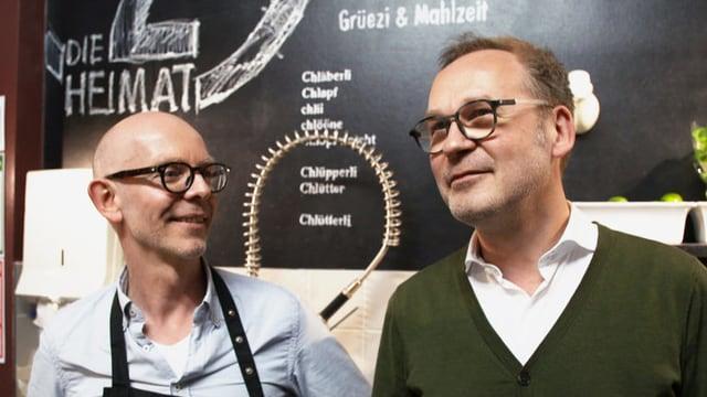 Thomas Gisiger mit seinem Lebenspartner Andreas