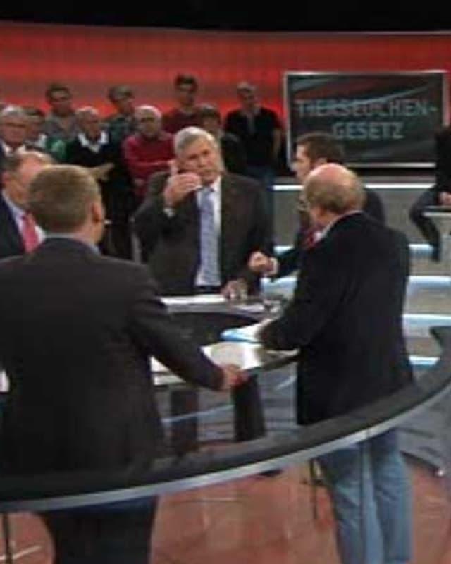 Diskussionsrunde der Arena