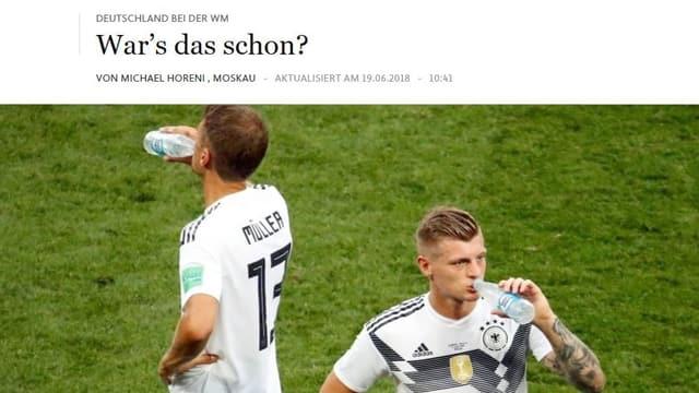 Die Schlagzeile auf FAZ.de.