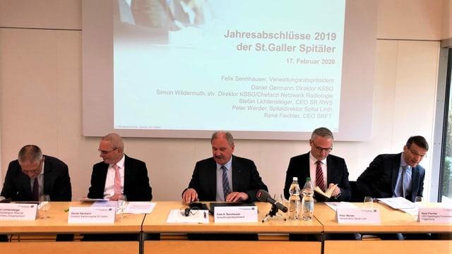 Der Verwaltungsrat der Spitalverbunde präsentiert die Zahlen 2019.