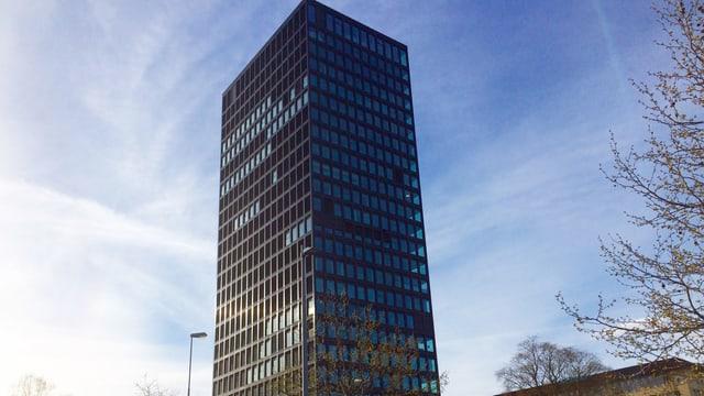 Der Zuger Parktower mit seinen 24. Stockwerken