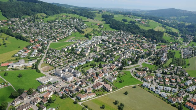 Die Gemeinde Gaiserwald aus der Luft