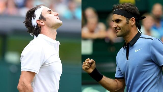 Bild-Combo mit 2 Federer-Fotos.