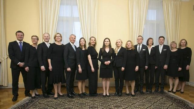 Finnlands Kabinettt: Jung und weiblich