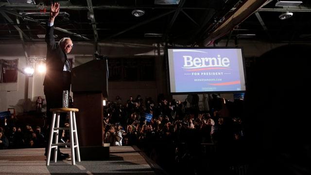 Bernie Sanders nach seinem Wahlsieg in New Hampshire.