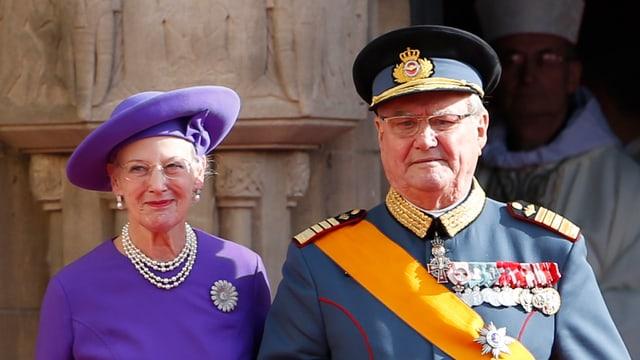 Porträt von Königin Margrethe und Prinz Henrik