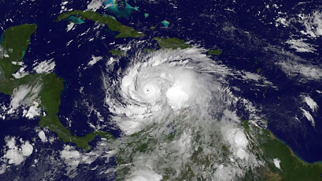 Satellitenbild von Hurrikan