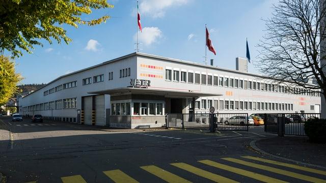 Das Gebäude von Rieter im Winterthurer Stadtteil Töss