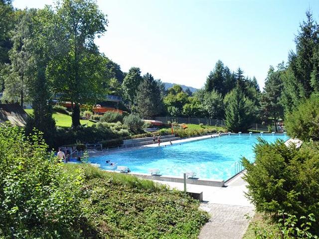 Das 50-Meter-Becken der Zimmeregg-Badi im Luzerner Stadtteil Littau.