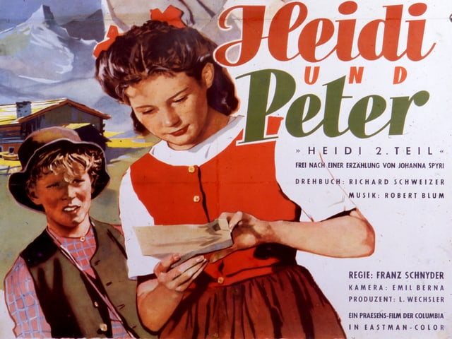 Ausschnitt des Filmplakats «Heidi und Peter».