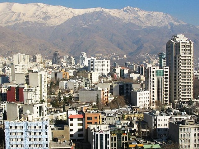 Panorama von Teheran.