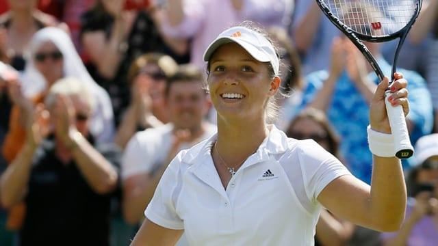 Lokalmatadorin Laura Robson sorgt in Wimbledon für positives Aufsehen.