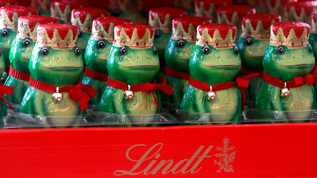 Froschkönige aus Schokolade von Lindt & Sprüngli