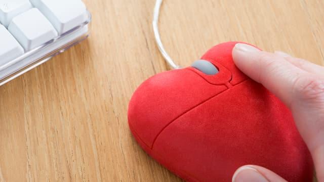 Computermaus in Herzform