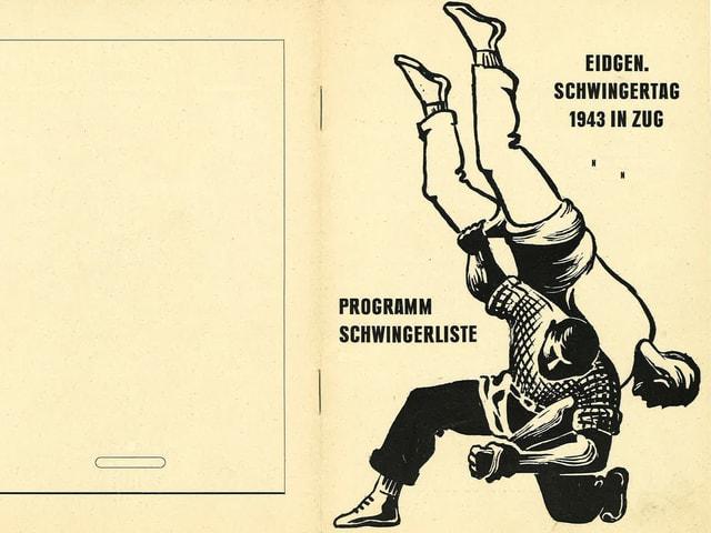 Das Programmheft zum Eidgenössischen Schwingertag 1943 in Zug.