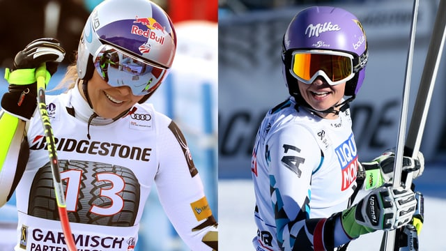 Lindsey Vonn und Anna Veith.