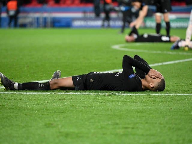 Kylian Mbappé nach dem Achtelfinal-Out gegen Manchester United.