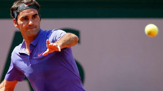 Federer hat sein Ziel klar vor Augen.