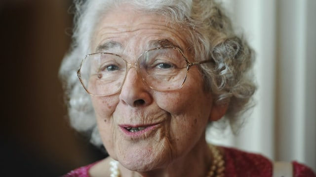Judith Kerr kurz vor ihrem 90. Geburtstag im Jahr 2013.