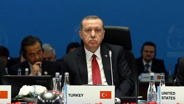 Il president da la Tirchia Recep Tayyip Erdogan a l'inscunter dals G20.