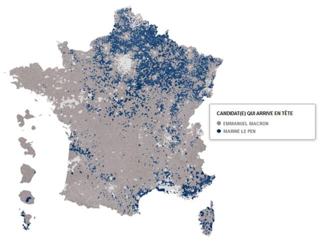 Karte von Frankreich.