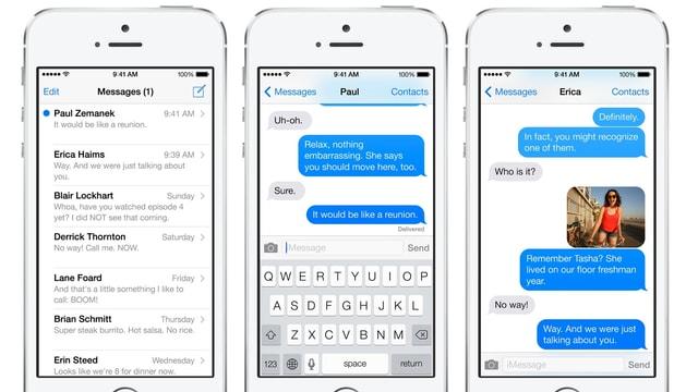 Nachrichten in iOS 7.