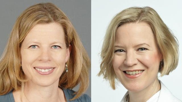 Porträts der beiden Chatexpertinnen.