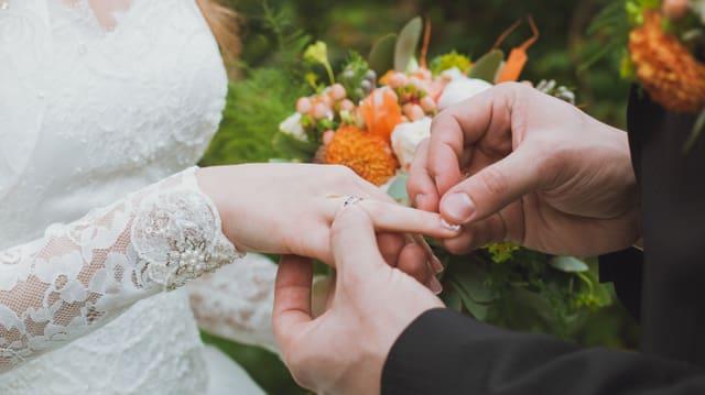 Hochzeitspaar.