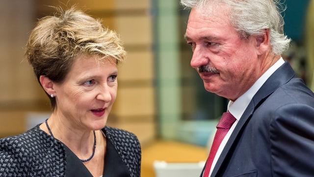 Sommaruga und der luxemburgische Aussenminister Asselborn