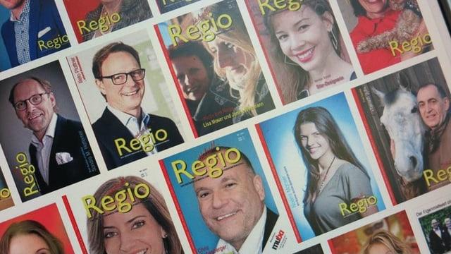 Diverse Titelblätter des Magazins «Regio Aktuell»