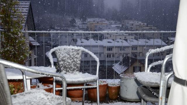 Am Ostersonntag 2015 schneite es in St. Gallen.