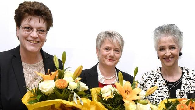 Silvia Steiner, Jacqueline Fehr e Carmen Walker Späh