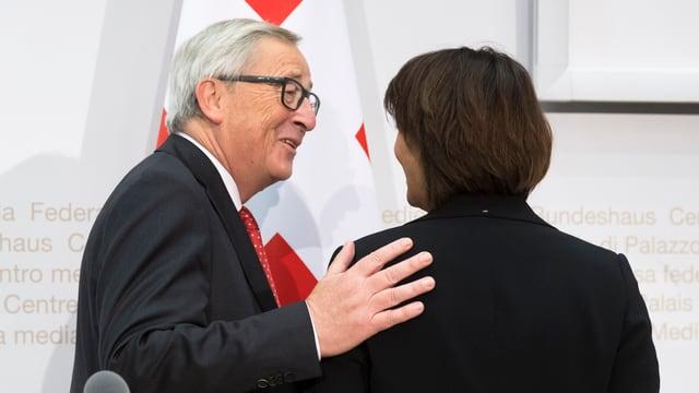 Juncker bei Leuthard.