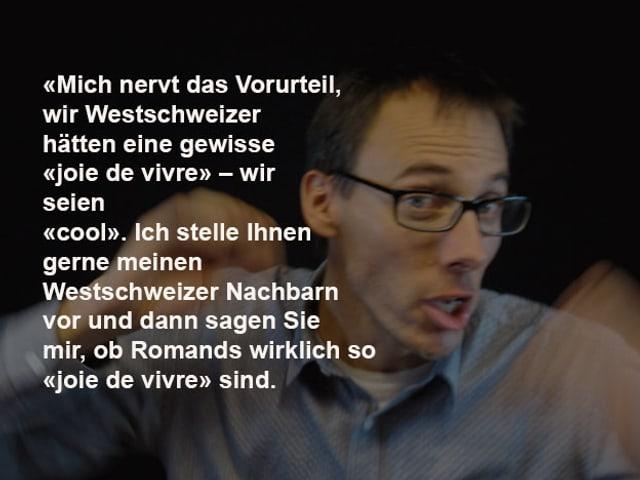 Zitat über Bild von Stéphane Gabioud.