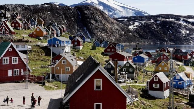 Häuser auf Grönland.