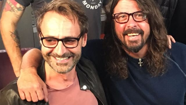 Dave Grohl (rechts) und Dominic Dillier.