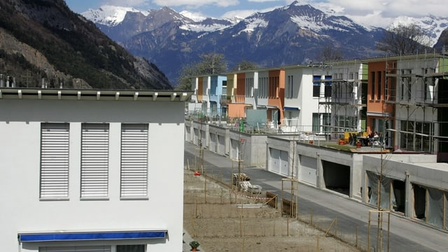 Einfamilienhaus-Quartier in Graubünden.