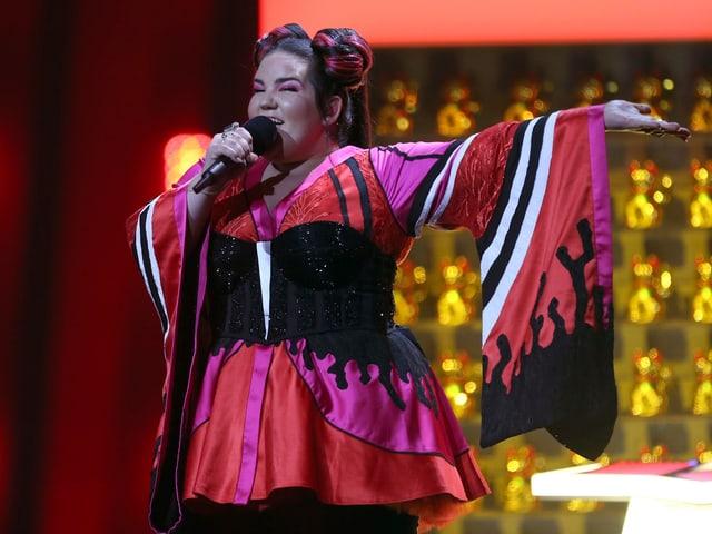 Netta Barzilai da l'Israel durant il concert