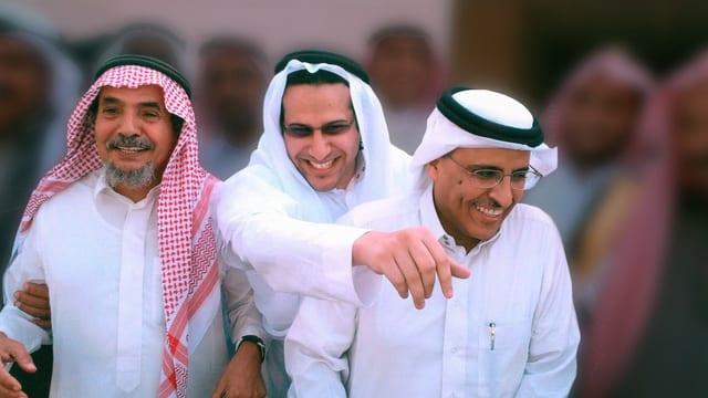 Abdullah al-Hamid, Mohammad Fahad al-Qahtani, and Waleed Abu al-Kahir sitzen in Saudi-Arabien im Gefängnis. Sie haben friedlich gegen das autoritäre Herrschaftssystem protestiert.