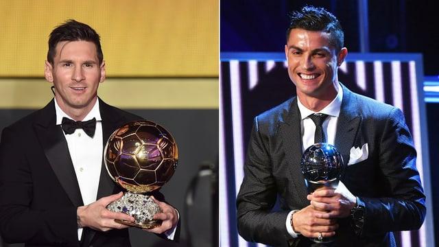 Lionel Messi und Cristiano Ronaldo.