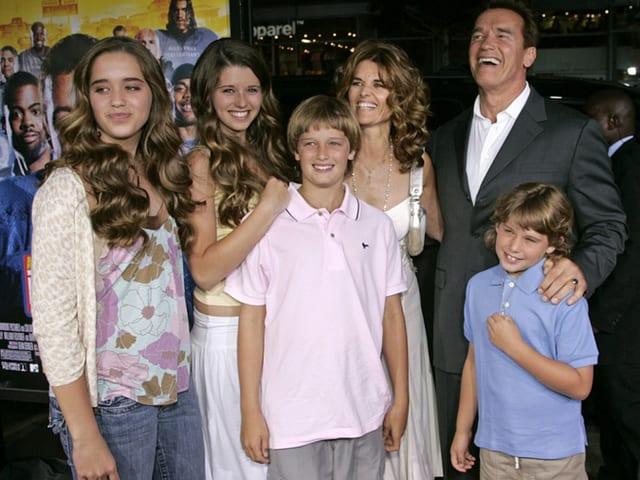 Arnold Schwarzenegger, Maria Shriver und ihre vier Kinder
