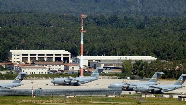 Die Air Base Ramstein am 25. Juni 2020, Hauptquartier der US-Streitkräfte in Europa..