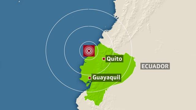 Karte von Ecuador.