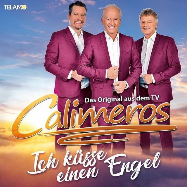 Drei Männer auf einem Album-Cover.